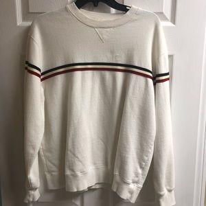 John Galt Oversized Striped Sweatshirt